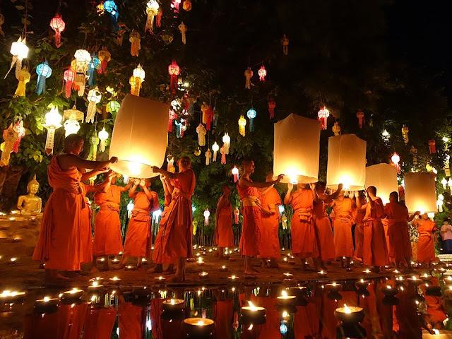 Taizemes laternu festivāls